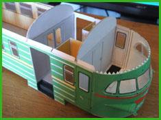Как сделать поезд из бумаги для детей