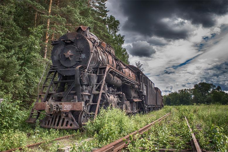 Кладбище паровозов в Пермском крае