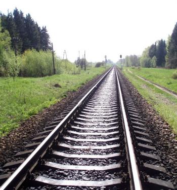 Колея железной дороги