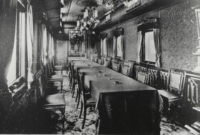 Внутренний интерьер Императорского поезда