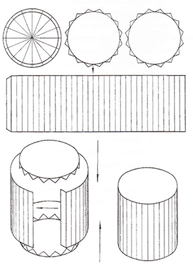 Цилиндр из бумаги схемы