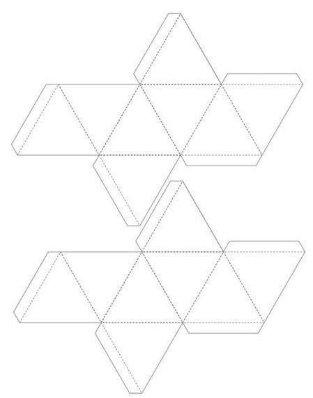 Как сделать геометрическую фигуру квадрат из картона