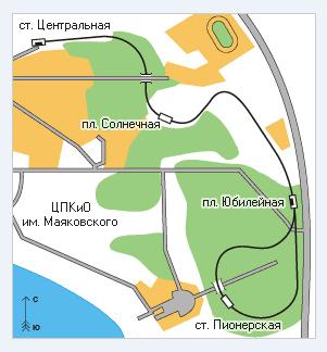 Карта ДЖД Екатеринбурга
