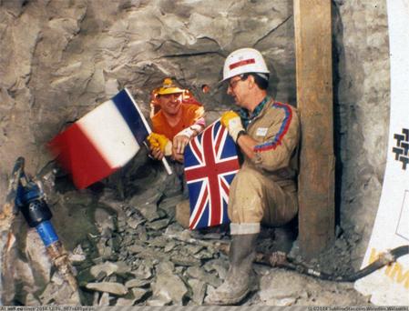 Встреча строителей в Евротоннеле
